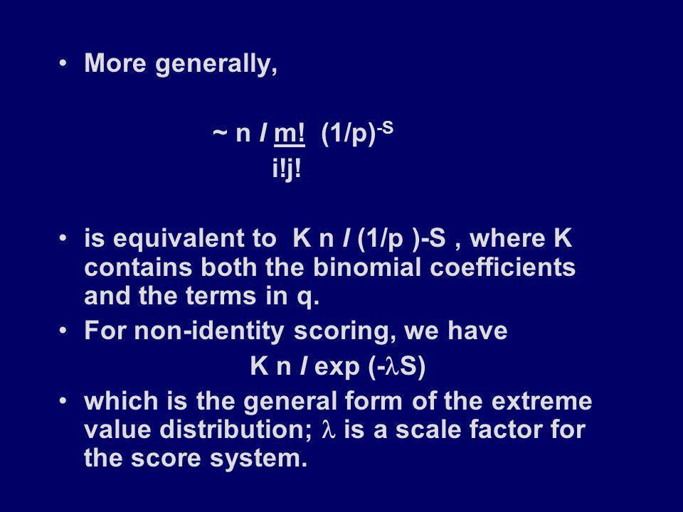 More generally, ~ n l m. (1/p) -S i!j.
