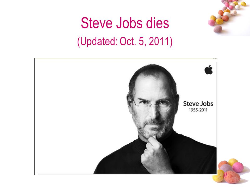 # Steve Jobs dies (Updated: Oct. 5, 2011)