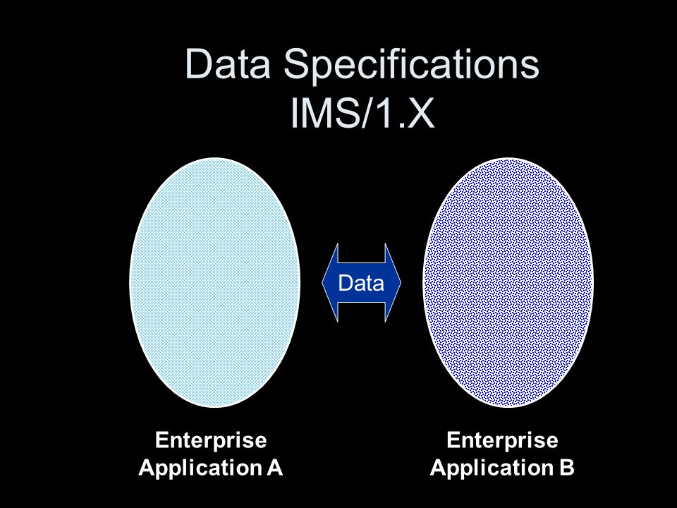 Data Specifications IMS/1.X Enterprise Application A Enterprise Application B Data