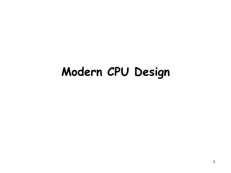 3 Modern CPU Design
