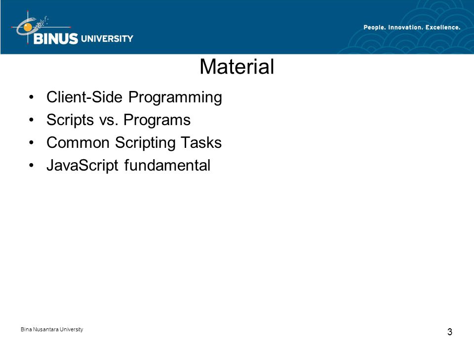 Material Client-Side Programming Scripts vs.