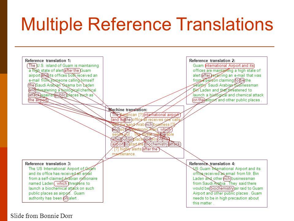 Reference translation 1: The U.S.