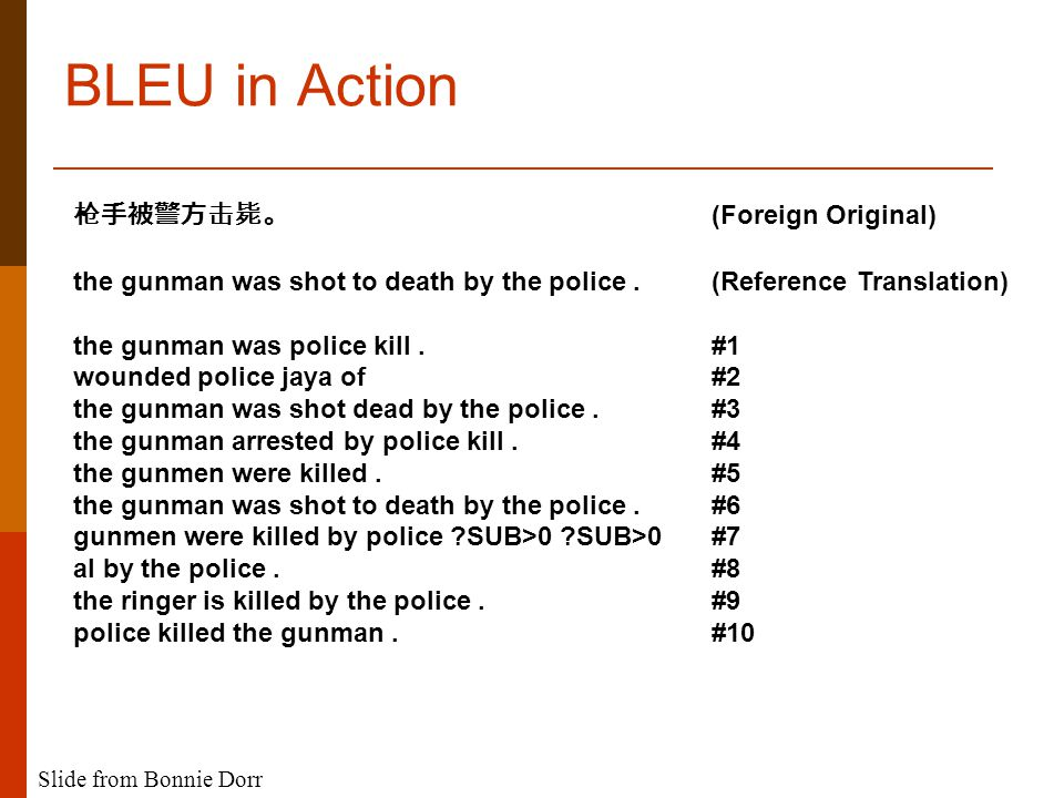 BLEU in Action 枪手被警方击毙。 (Foreign Original) the gunman was shot to death by the police.