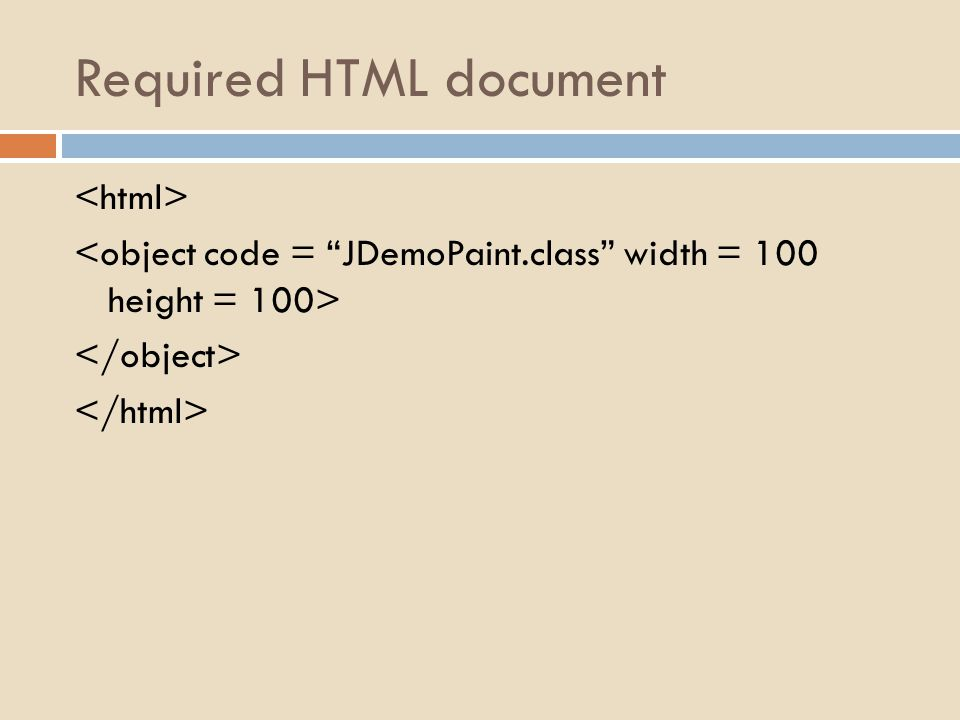 Required HTML document