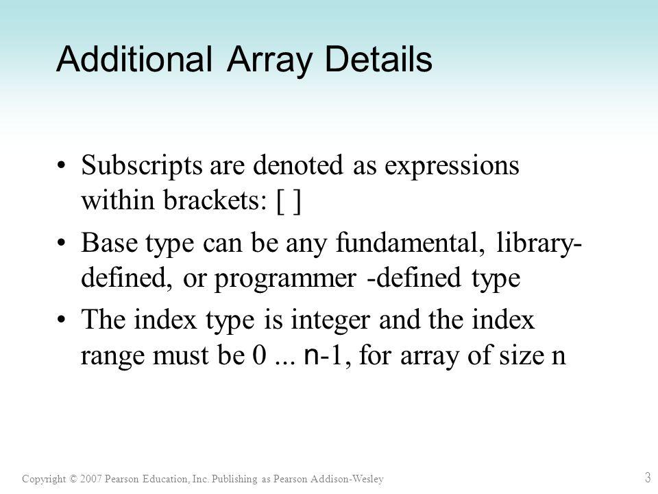 Copyright © 2007 Pearson Education, Inc. Publishing as Pearson Addison-Wesley 74 Fig. 9.18 2-D Grid