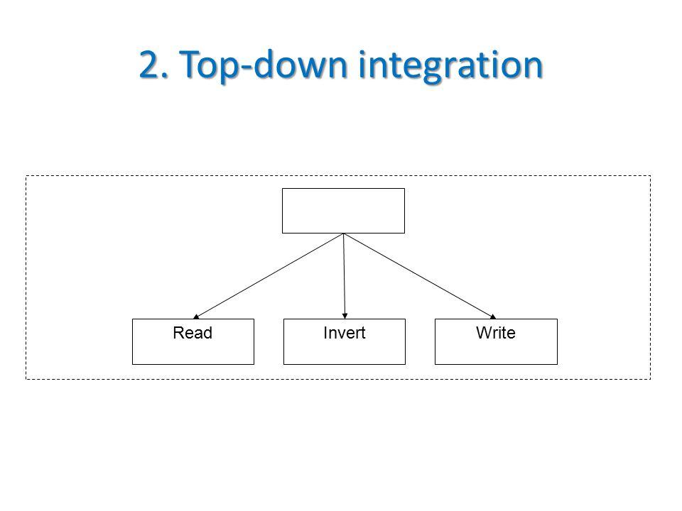 2. Top-down integration ReadInvertWrite