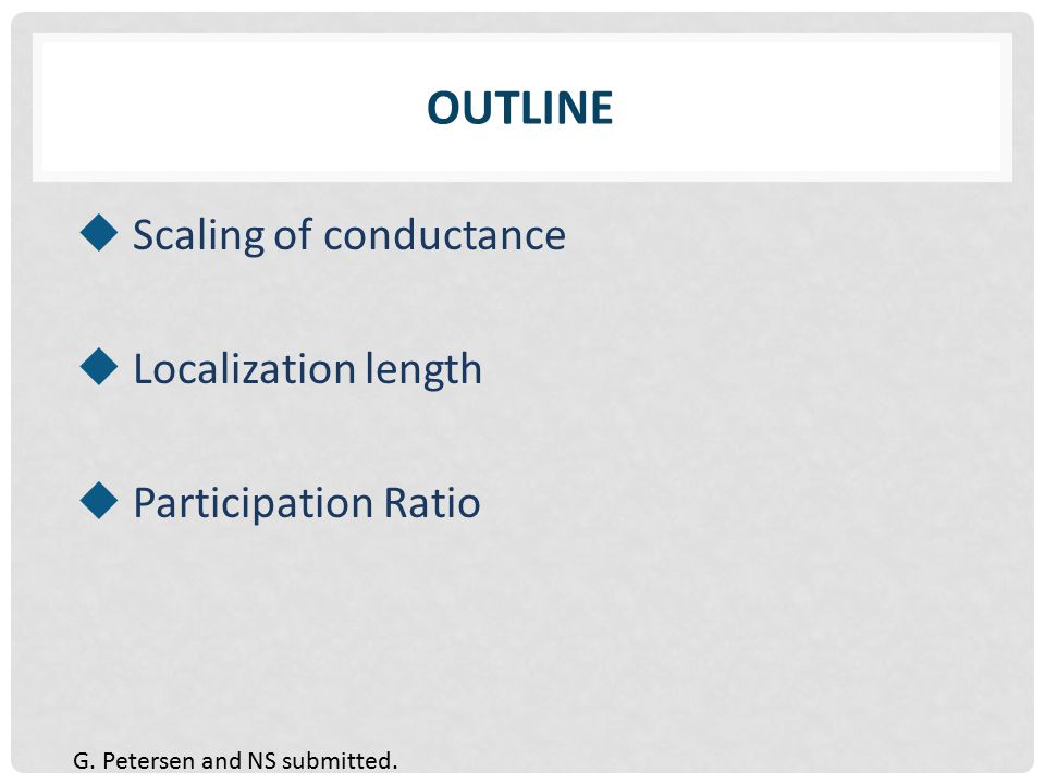 PARTICIPATION RATIO I E/t = 0.1 E/t = 1.7 IS THERE ANY DIFFERENCE?