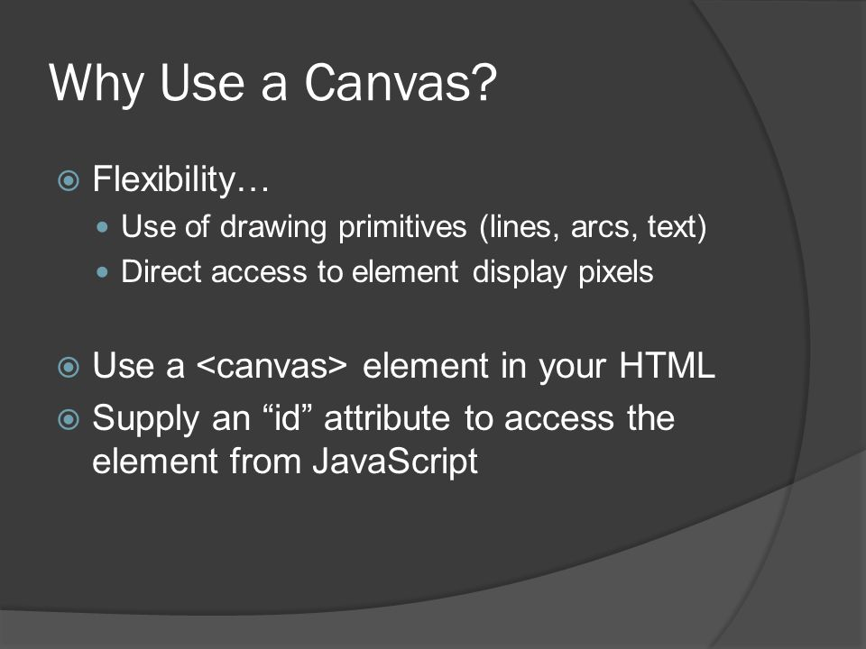 Why Use a Canvas.
