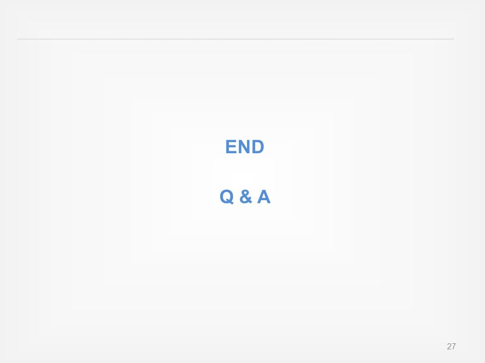END Q & A 27