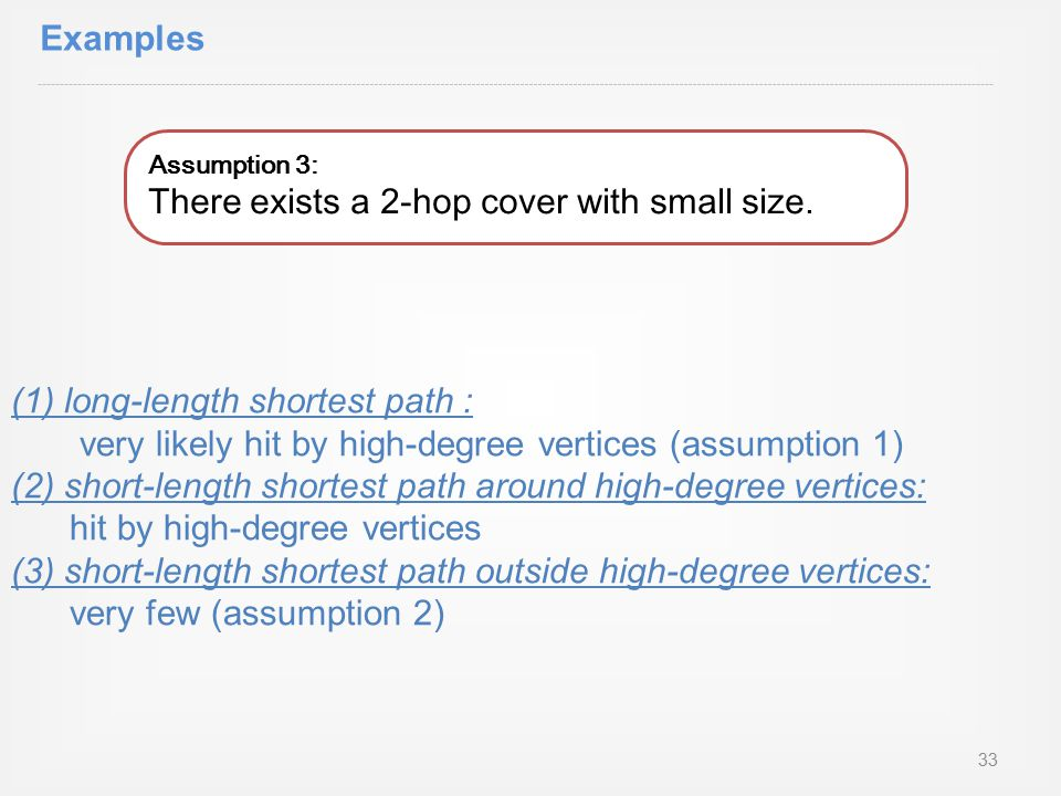 Assumption 3: There exists a 2-hop cover with small size.