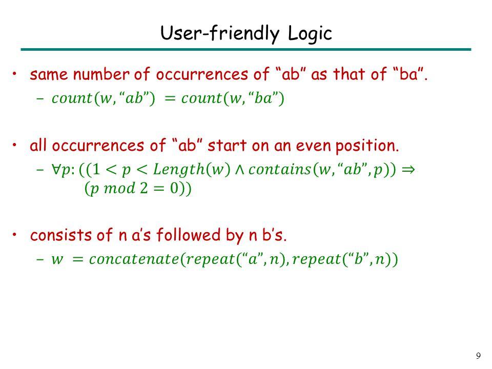 9 User-friendly Logic