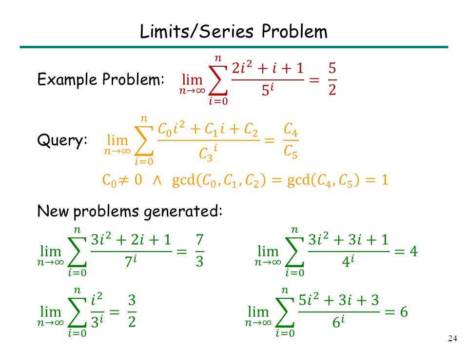 24 Limits/Series Problem
