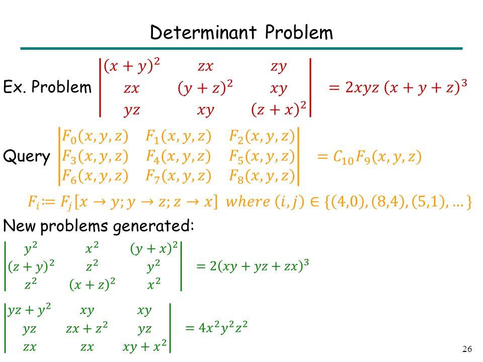 26 Determinant Problem