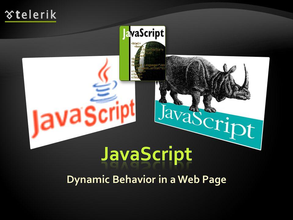 Dynamic Behavior in a Web Page
