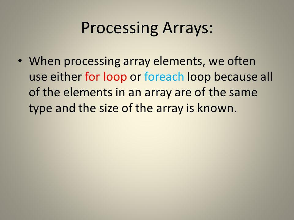 Create an array public class TestArray { public static void main(String[] args) { double[] myList = {1.9, 2.9, 3.4, 3.5};