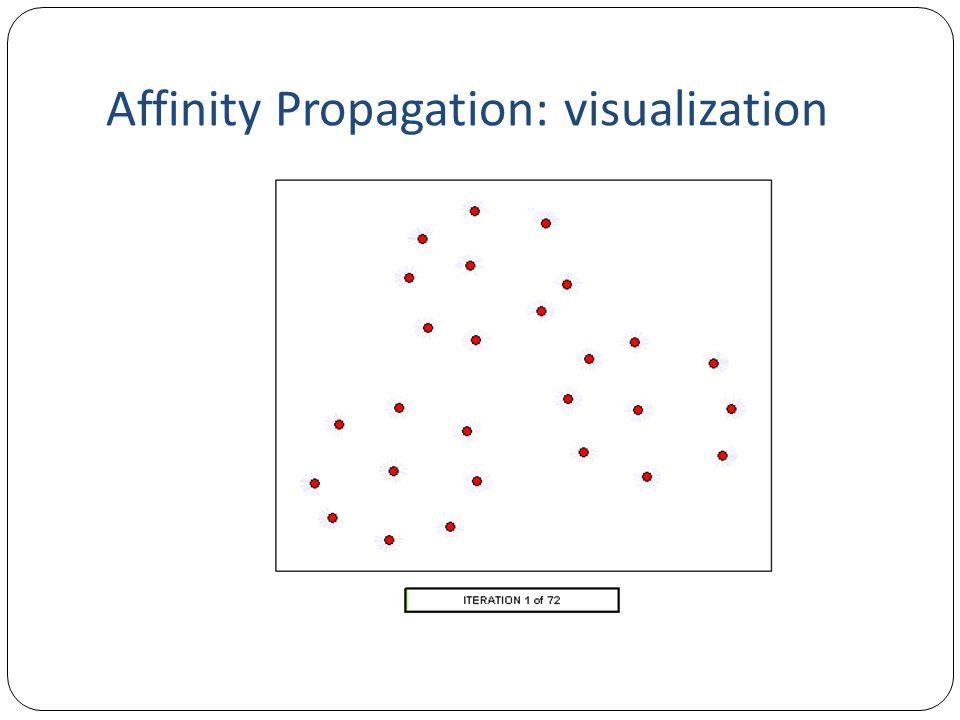 Affinity Propagation: visualization