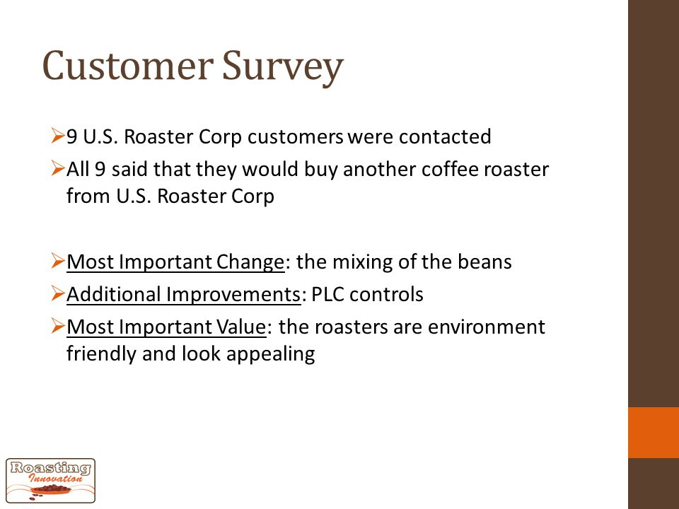 Customer Survey  9 U.S.