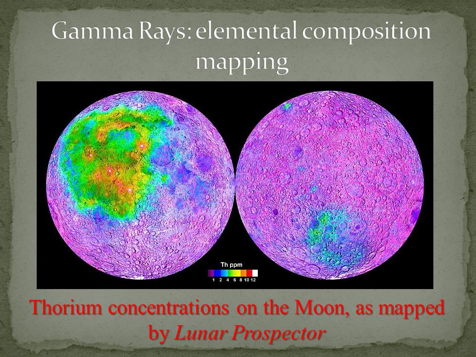 Thorium concentrations on the Moon, as mapped by Lunar Prospector