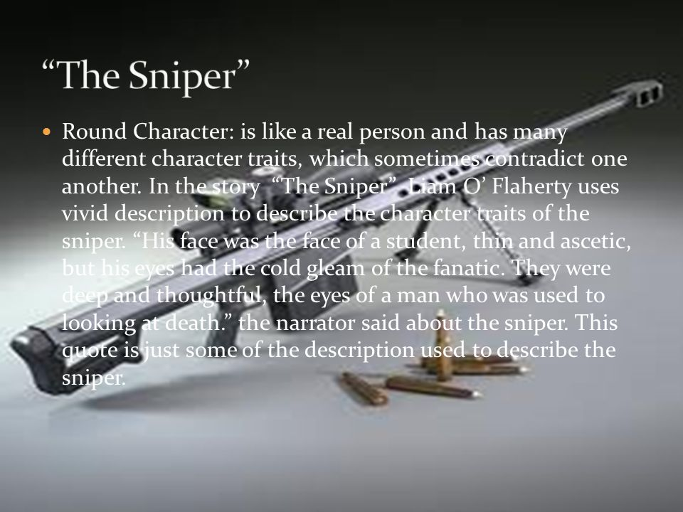"""Dramatic irony: An example of dramatic irony would be in """"The Sniper"""" when the Republican Sniper shot his target and it ended up being his brother. It"""