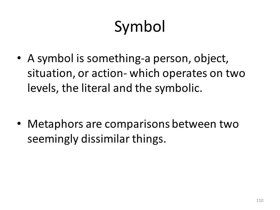 Symbol A symbol works two ways: something itself suggest something deeper.