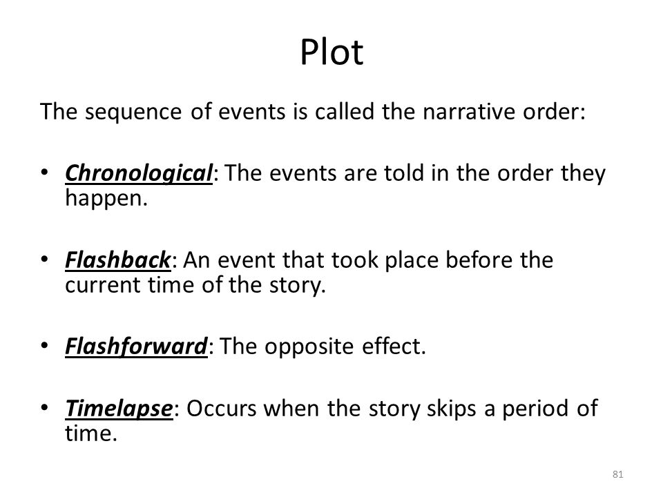 Plot Conflict: The basic tension, challenge that propels a story's plot.