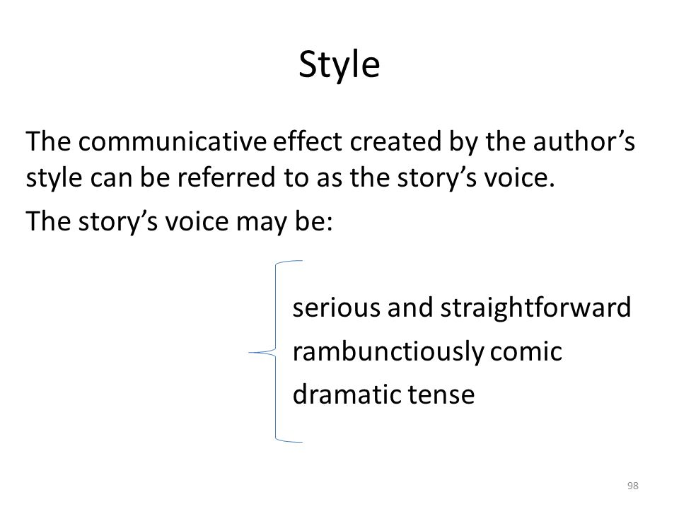 Tone Tone: It refers to the attitude that the story creates toward its subject matter.