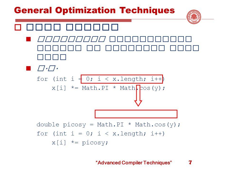Advanced Compiler Techniques Peephole Optimization Common Techniques 58