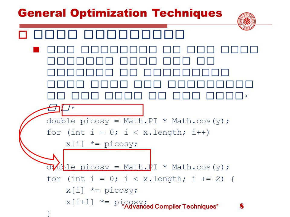 Representation of Array References  x = a [ i ]  a [ j ]= y  killed node Advanced Compiler Techniques 49 x = a [ i ] a [ j ] = y z = a [ i ] z = x??