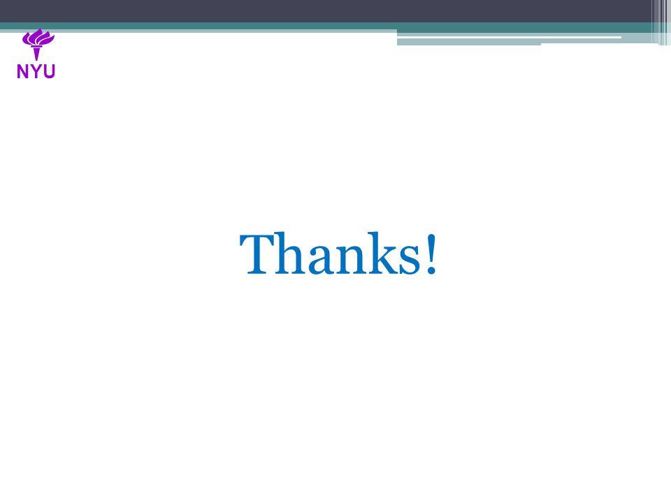 Thanks! NYU