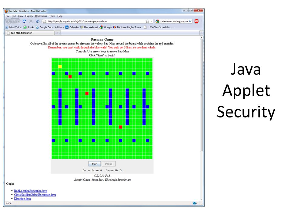 Java Applet Security