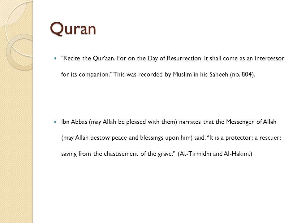 Quran Recite the Qur aan.