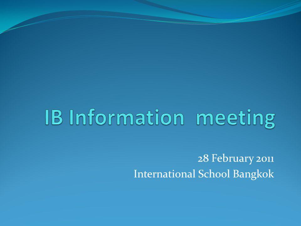 28 February 2011 International School Bangkok