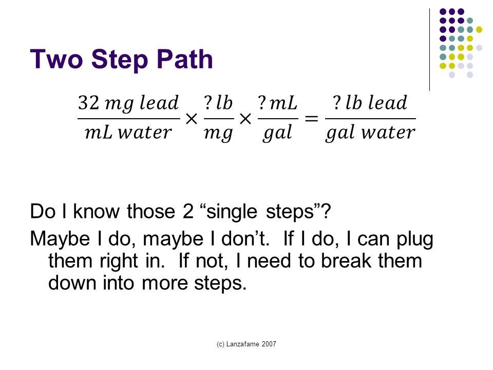 (c) Lanzafame 2007 Two Step Path