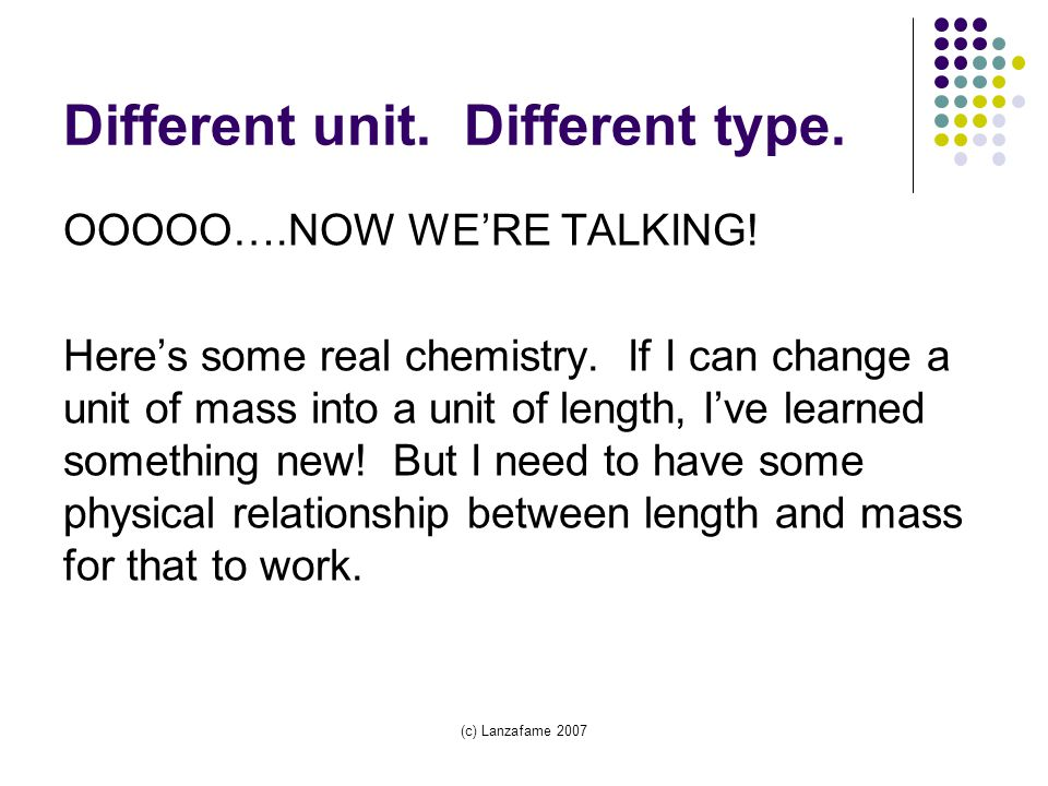 Different unit. Different type. OOOOO….NOW WE'RE TALKING.