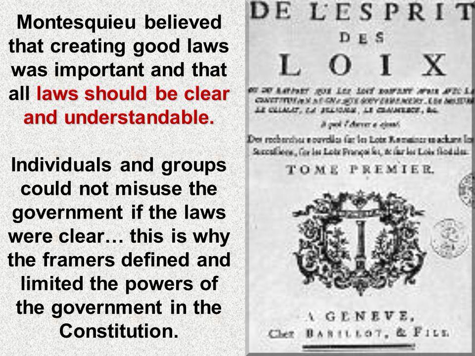 French political philosopher, Baron de Montesquieu separation of powers Baron de Montesquieu, suggested the separation of powers in his book The Spiri
