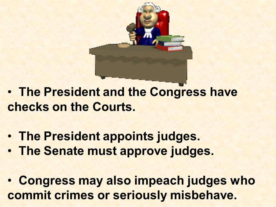 Congress can also remove a President from office if he is guilty of a crime or serious misbehavior. impeachment. A case against the President must be