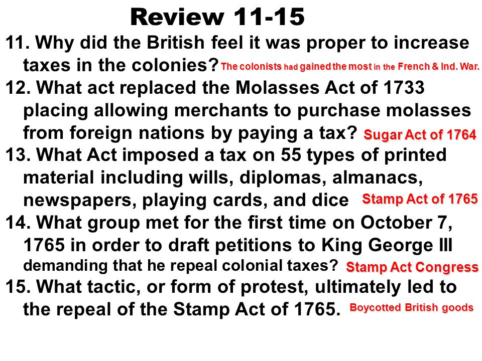 Declaratory Act right of the Parliament to raise taxes on the colonies In 1766, the Parliament repealed the Stamp Act, but it passed the Declaratory A
