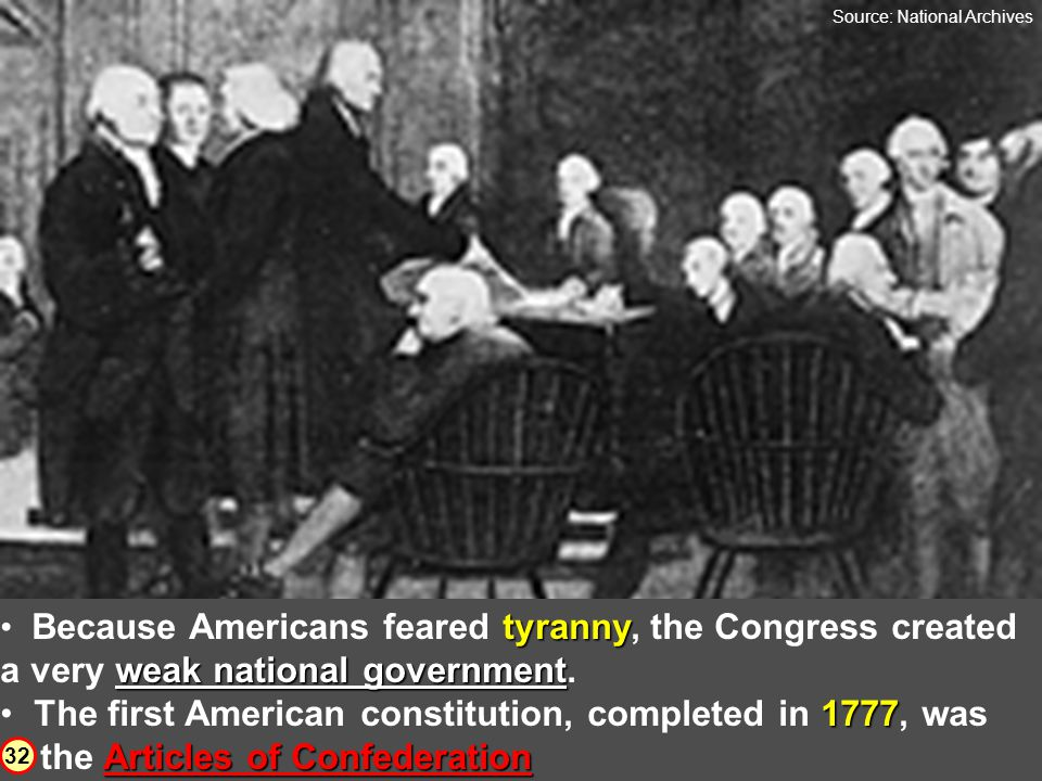 national plan of government Members of the Continental Congress also agreed that a national plan of government had to be created. Because most America