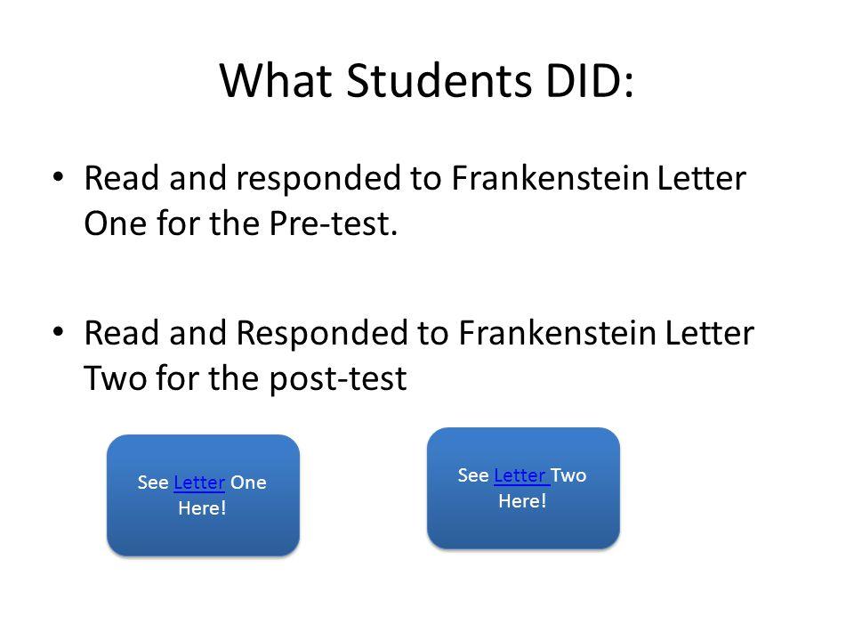 Frankenstein Letter One Frankenstein Letter 1 St.Petersburgh, Dec.