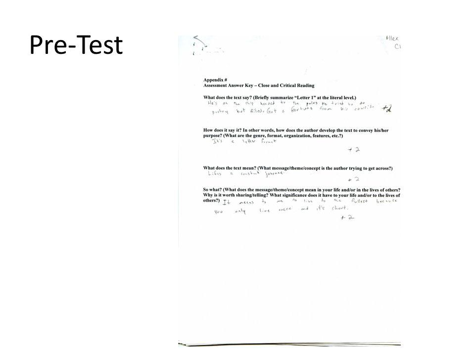 Pre-test 1 st Letter