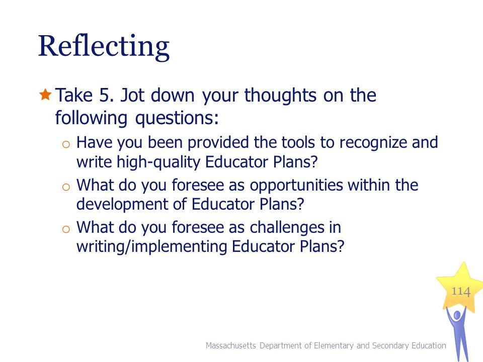 Reflecting  Take 5.
