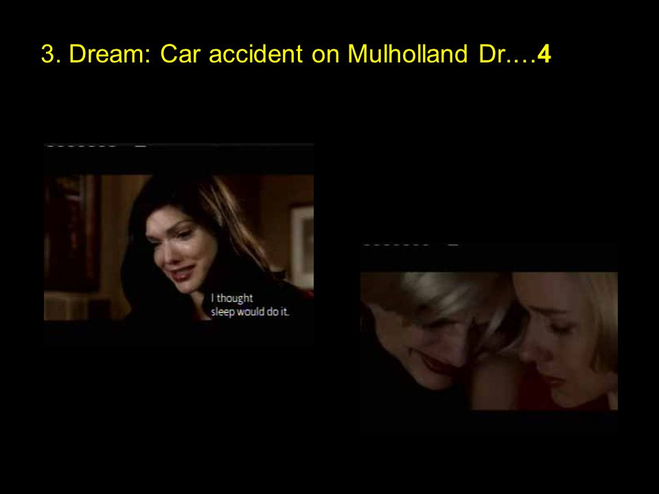 3. Dream: Car accident on Mulholland Dr.…4
