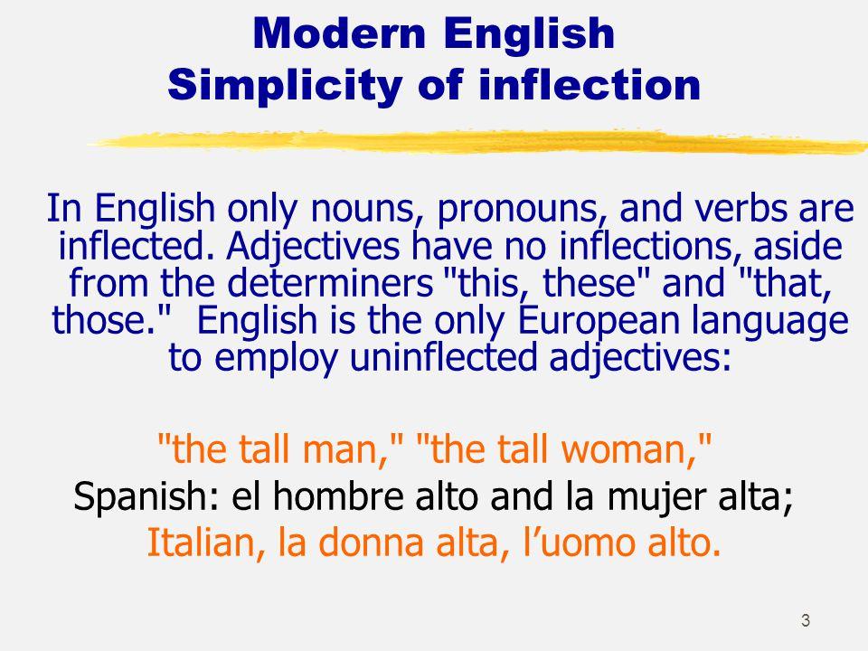 2 English Morphology- Word Languages English is not an inflecting language.