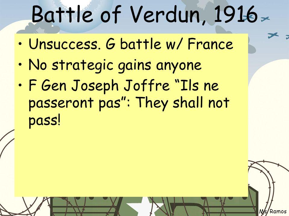 Battle of Verdun, 1916 Unsuccess.