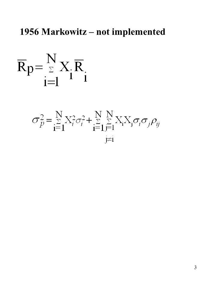 14 Alternative way of getting inputs N Securities Input Alternative Input N N N 1 1 3N + 2