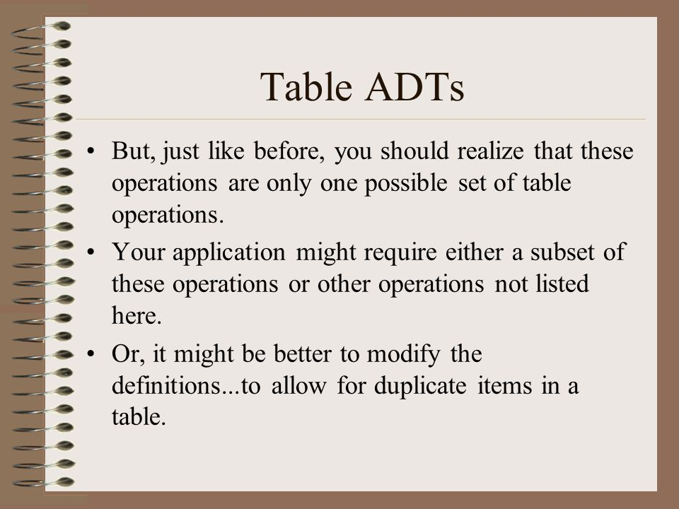 Hash tables Assume we have a Table of structures with locations 0 thru 100.