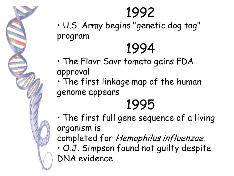 1990 UCSF and Stanford issued their 100th recombinant DNA patent and earning $40 million from the licenses by 1991. BRCA-1 discovered First gene thera