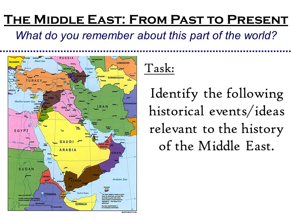 The Middle East: From Past to Present What do you remember about this part of the world.
