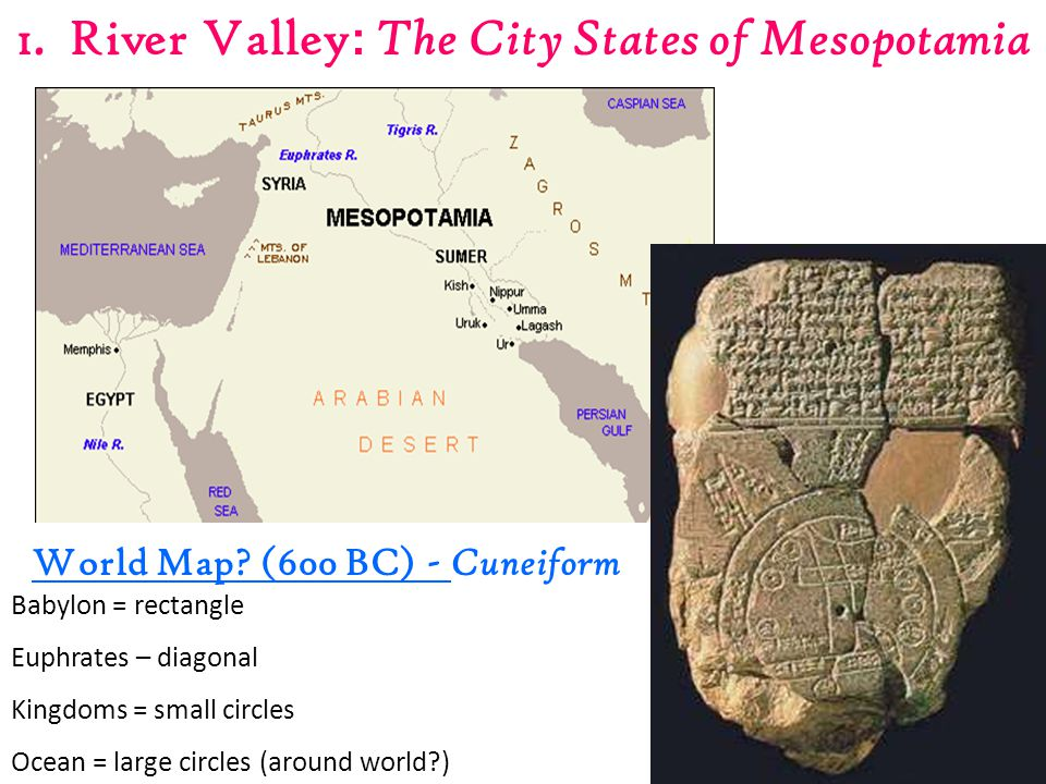 1.River Valley : The City States of Mesopotamia World Map.