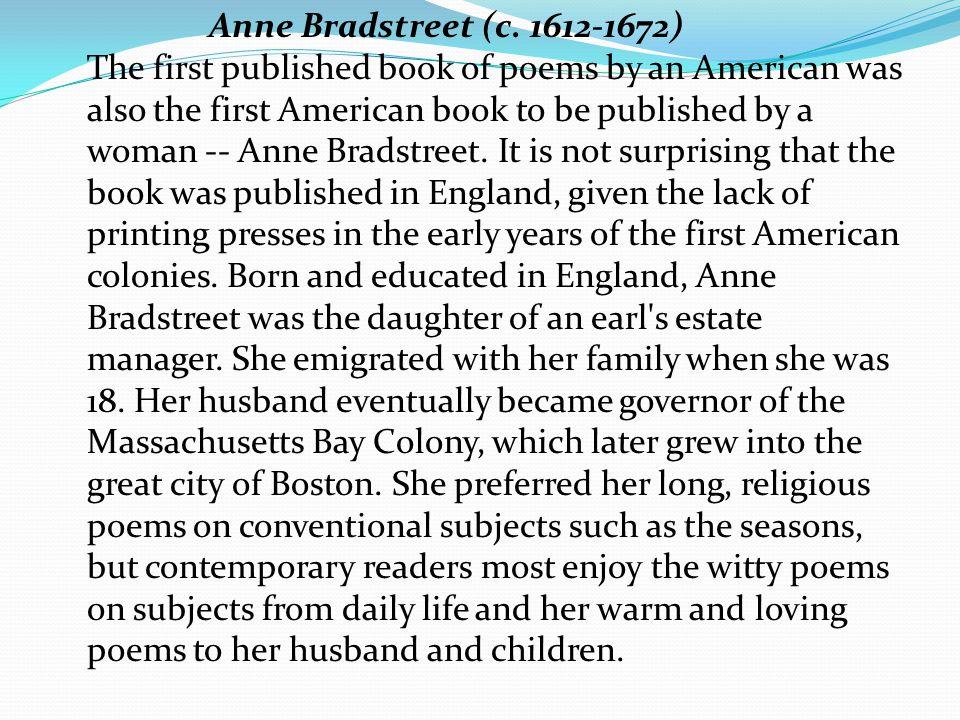 Anne Bradstreet (c.
